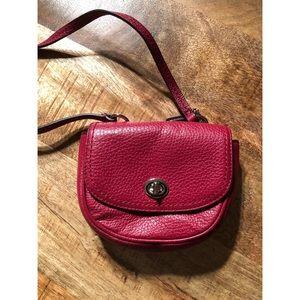 Handbags - Red Leather Crossbody Mini Bag